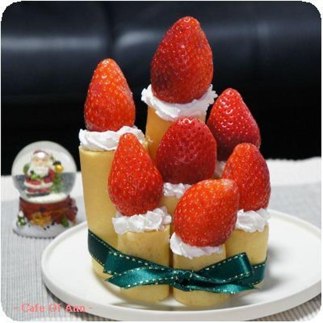 ホットケーキミックスでローソクのケーキ