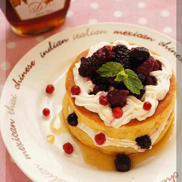 * ミルキー&スフレなパンケーキ♪