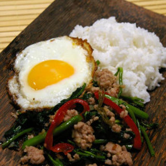 空芯菜と豚肉のタイ風炒め☆ごはんは必須アイテム:現地体験会に行ってきました