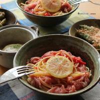 米油でさっぱり美味しく♪生ハムとトマトの冷製パスタ