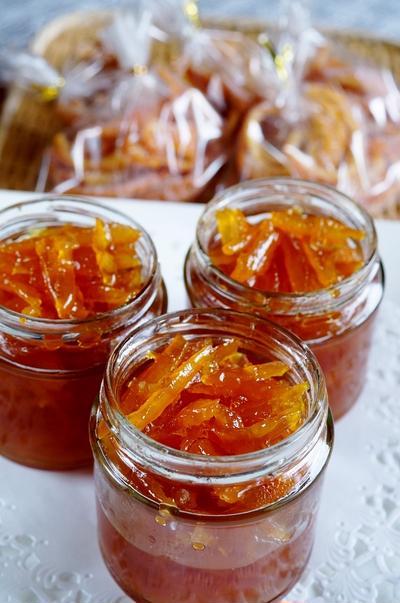 ■大量!!自家製保存食【ちょっと贅沢な作りの夏ミカンのママレード/皮でアンゼリカレシピ 】です♪