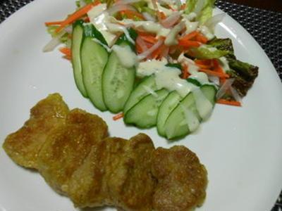 カレー味の豚ヒレ肉のソテー