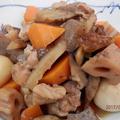めんつゆで簡単☆にんにく味噌風味の筑前煮