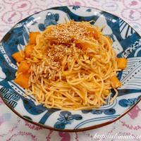 うま味調味料「いの一番」を使って、しらすと大根キムチ(カクテキ)のスパゲッティ