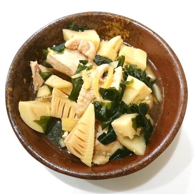 *【レシピ】筍と鶏肉の煮物*