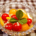 オレガノ風味☆ミニトマトのカクテルサラダ&ハピバ弁♪ by とまとママさん