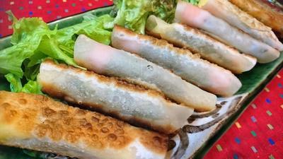 【レシピ】アレンジ★パリパリ★とろ〜り【スモークサーモンとチーズのロール餃子】