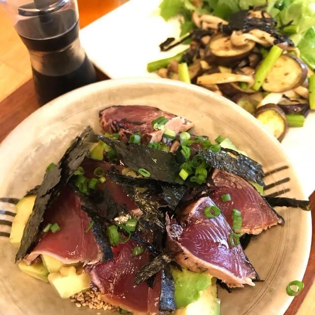 アボカドと鰹のタタキ丼ランチ