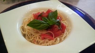 暑い夏に食べたい! フレッシュトマトの冷製パスタ♪