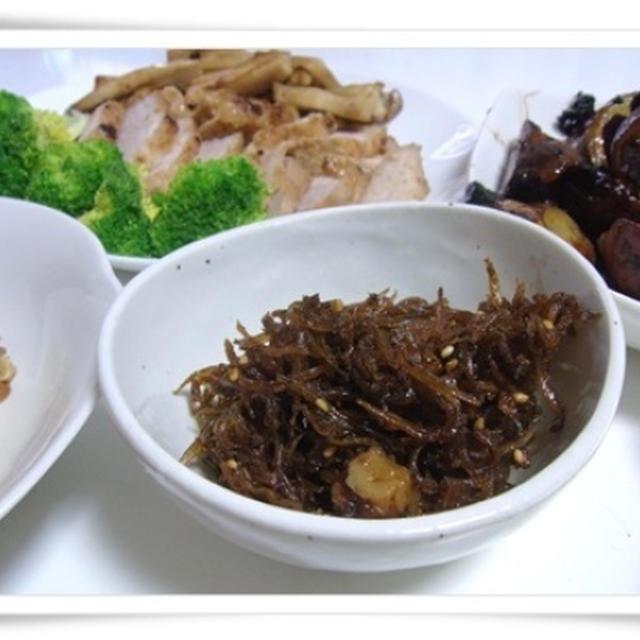 豚塊り肉塩麹焼とくぎ煮