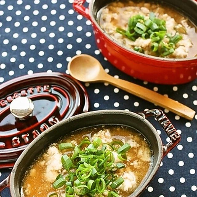 南部どりの、鶏そぼろあんかけ卵豆腐