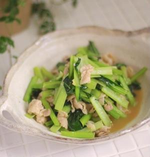 塩麹×ポン酢が最高!豚バラと小松菜の塩麹ポン酢炒め