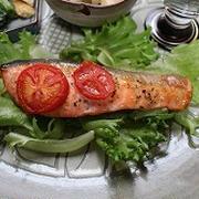 減塩!鮭のスパイストマト焼き