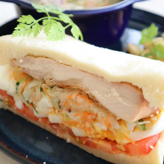 (主食レシピ)グリルチキンと大根のサンドイッチ