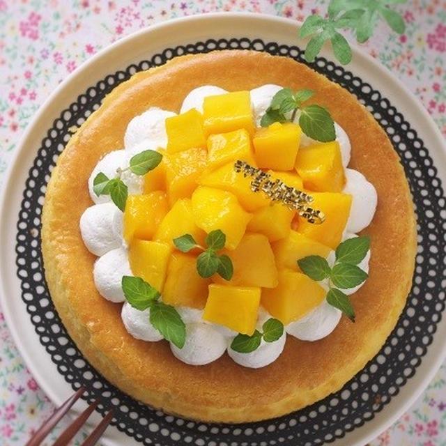 しっとり濃厚!マンゴーチーズケーキ