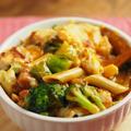 サラダチキン・カレーグラタン 、 コンビニ食材でお手軽パスタ・グラタン
