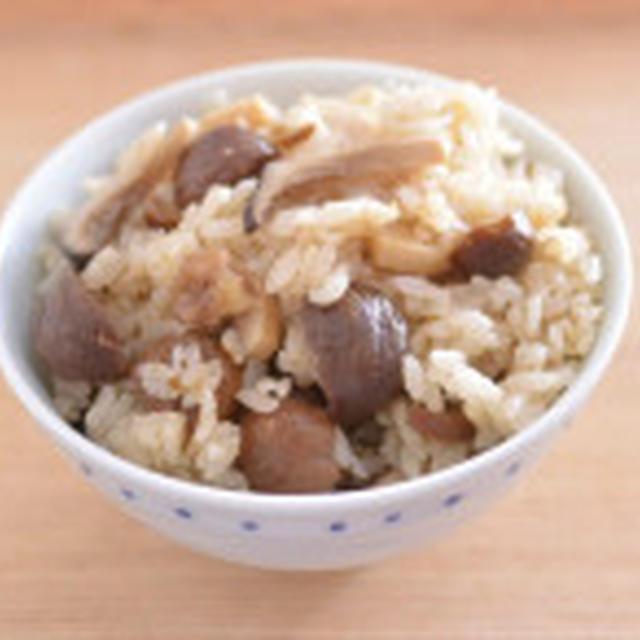炊飯器で簡単。甘栗とエリンギの炊き込みごはん