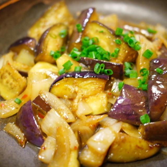 茄子のピリ辛味噌炒め