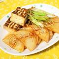 焼き肉のタレde大根と焼き豆腐のステーキ