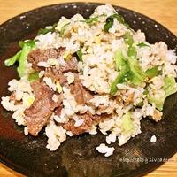 [魚醤で旨みたっぷり料理レシピ]   エスニック風♪牛肉レタス炒飯 レシピ