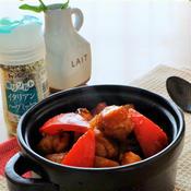煮込み10分!お肉入り菜花のラタトゥイユ