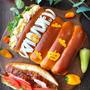 ニューイングランドホットドッグバンズのサンドイッチ ハロウィンバージョン