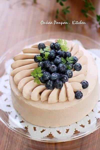 ■チョコ デコレーションケーキ♪