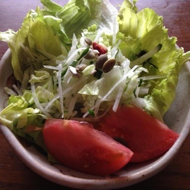 三種の野菜のシャクシャクサラダ