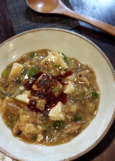 鯖缶で麻婆豆腐