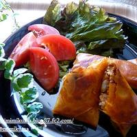 ■こくうまキムチの料理レシピモニター!とろっマヨ!サモサ風豚キムチーズの焼き春巻き♪