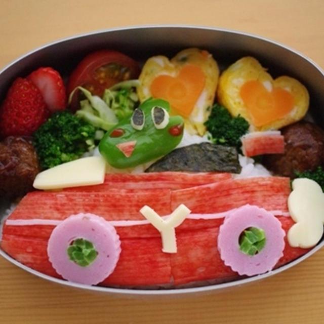 宮崎県産ピーマンでつくる、グリーンザウルスのレーシング弁当