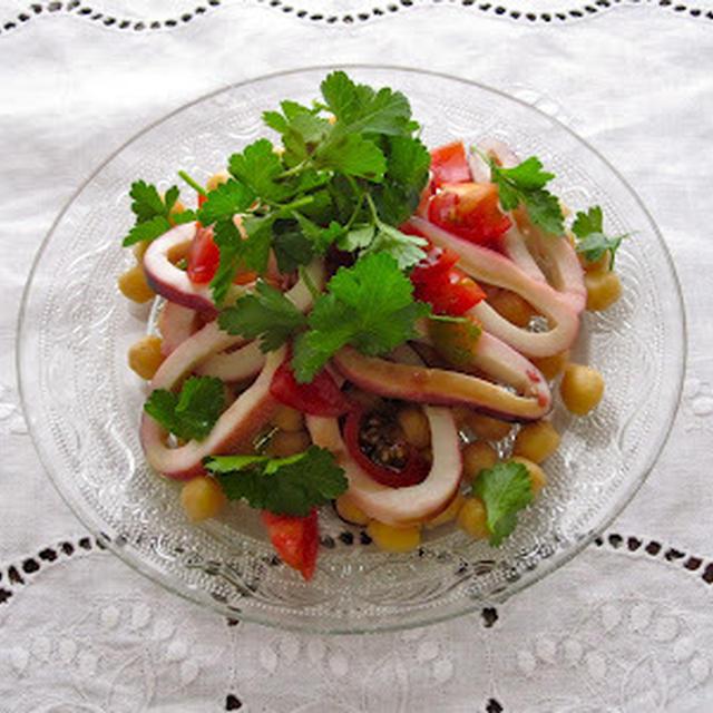 イカとイタリアンパセリの前菜