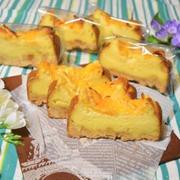 デコポンのベイクドチーズケーキ。柑橘の爽やかな香りのお菓子。