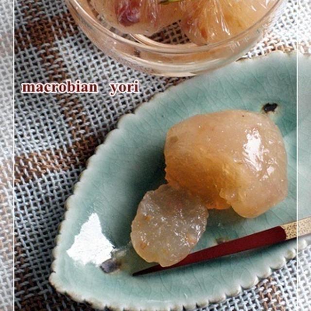 【マクロビ簡単レシピ】梅干の葛玉