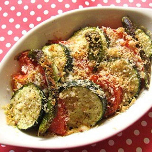ズッキーニとトマトのオーブン焼き