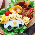 【キャラ弁】車でおでかけおにぎりとチャーシュー弁当 by Misuzuさん