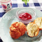 パン粉でザクッ♪イタリアンハーブ&チーズのドーナツ☆卵なし