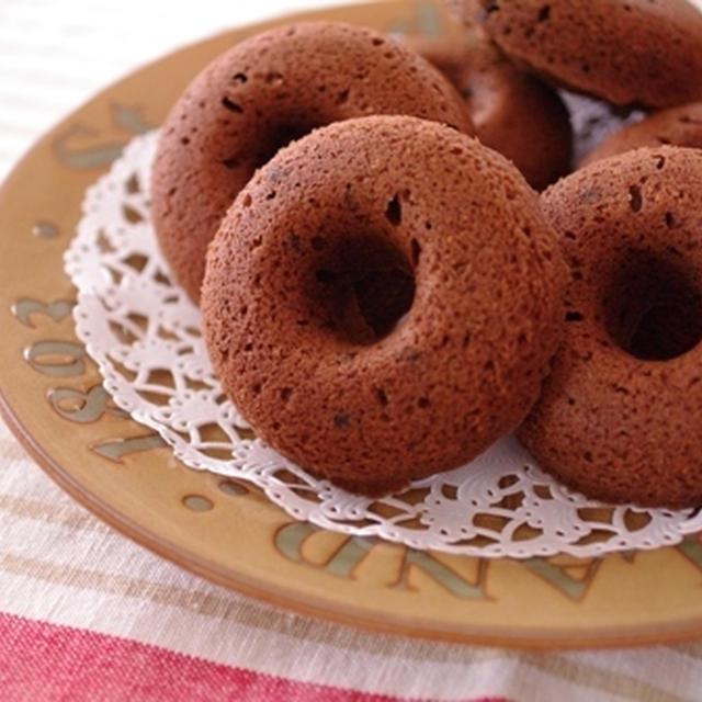 チョコレートたっぷり焼きドーナツ☆子どもと一緒に手作り