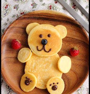 親子deクッキング!クマさんとアンパンマンのパンケーキの巻っ。