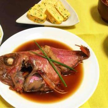 鯛の煮付け 和食献立
