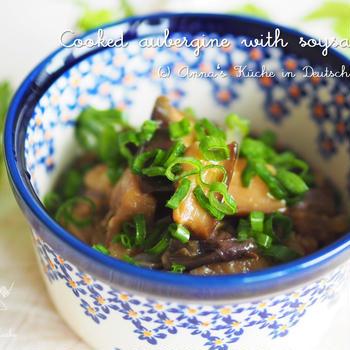 【レシピ・副菜】とろっとナスと玉ねぎの煮物♡