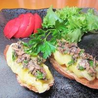 簡単で美味しいジャガイモとサーディンのオープンサンド。