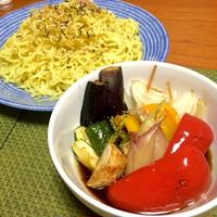 """【モニター当選】夏野菜で""""北の味わいざるラーメン""""をボリュームup"""