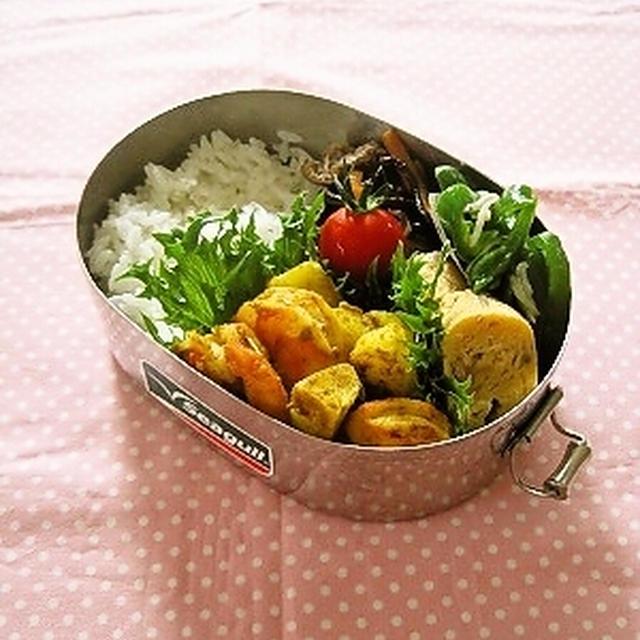 海老とじゃが芋のサブジ風弁当
