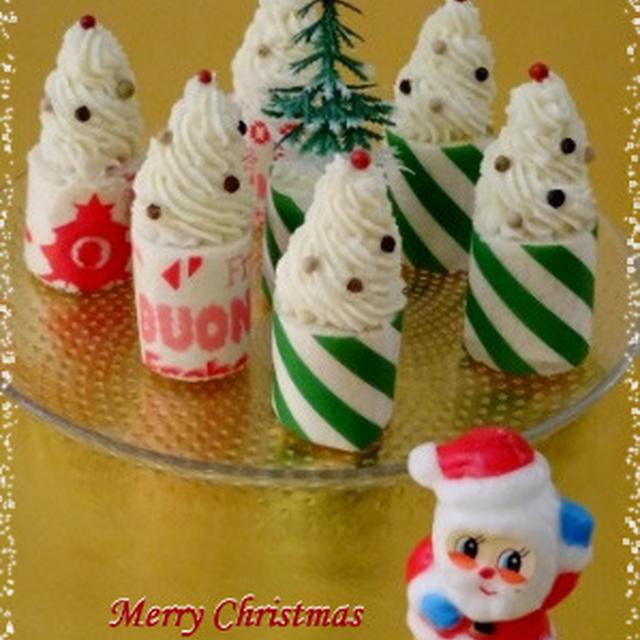 クリスマスに・・ツリーみたいなロールサンドイッチ☆