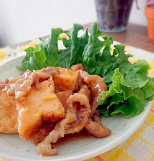 レシピ☆豚こま肉と厚揚げの中華炒め