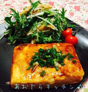豆腐ステーキ*焼肉のタレ♪