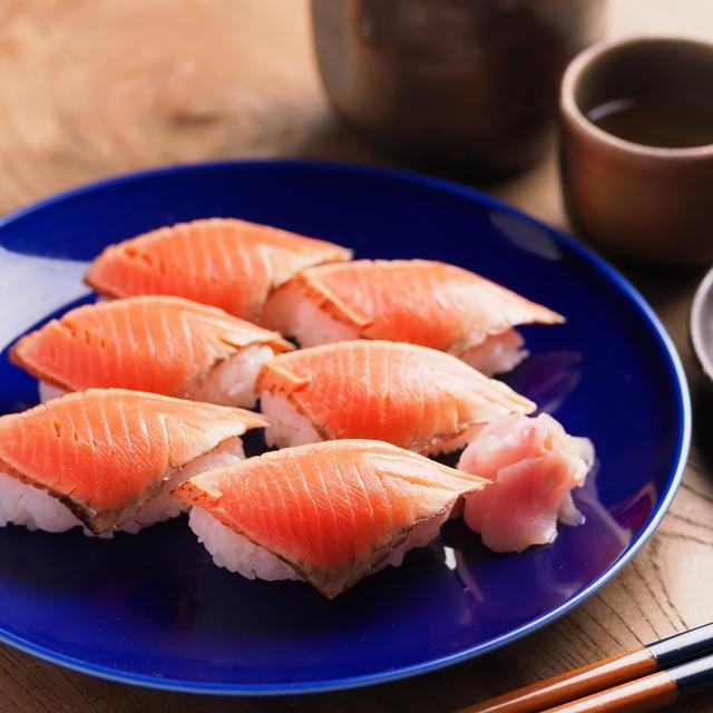 サーモンたたきの握り寿司 、 自宅で握り寿司の練習&寿司パーティ