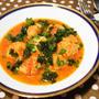パセリがおいしいミートボールのトマト煮こみ。揚げと生で2種類の食感を楽しむレシピ。
