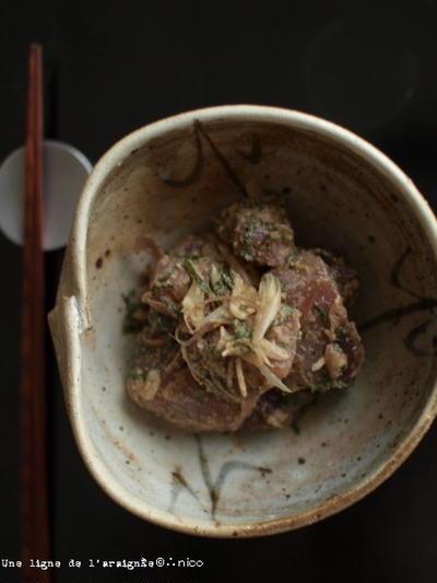 初鰹のゴマ酢味噌和え。